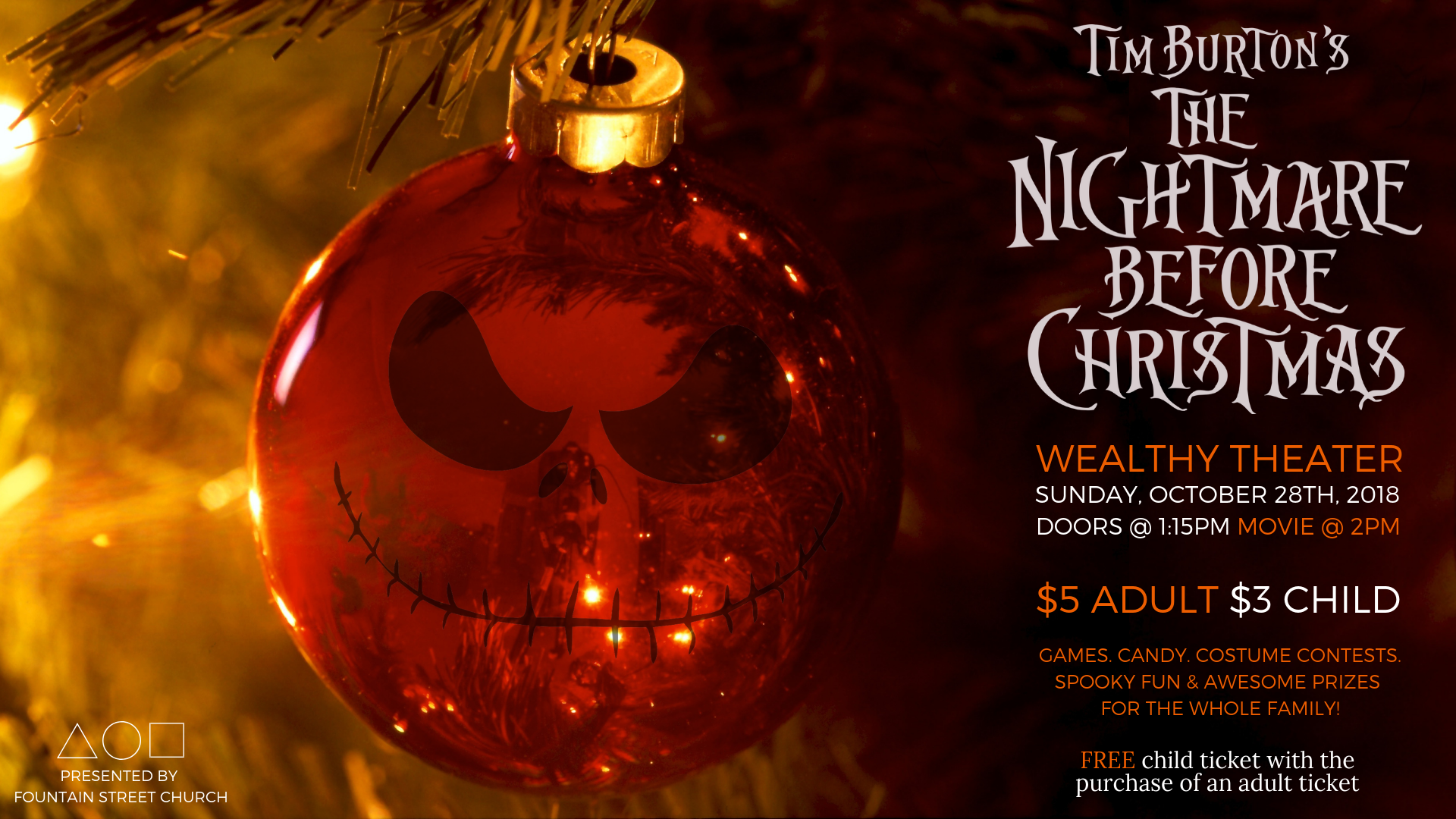 the nightmare before christmas presented by fountain street church - A Nightmare Before Christmas